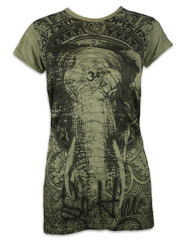 SURE Damen T-Shirt - Om Ganesha
