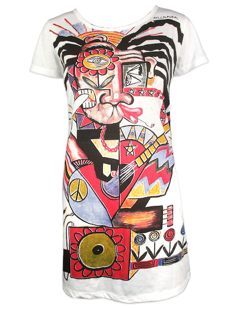 MIRROR Women's Shirt Dress - Rasta Art