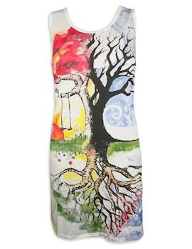 MIRROR Damen Trägerkleid - Baum der Erleuchtung