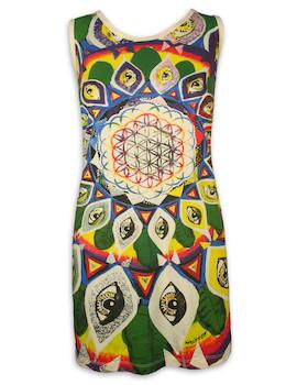 MIRROR Damen Trägerkleid - Blume des Lebens