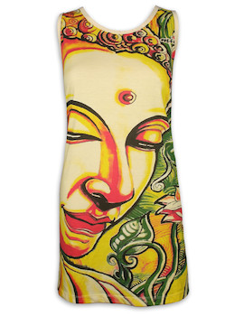 MIRROR Damen Trägerkleid - Schweigender Buddha