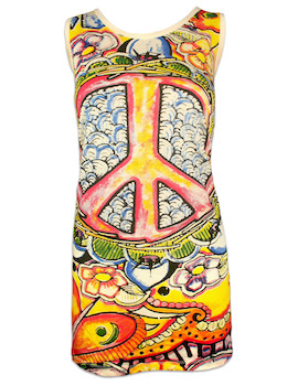 MIRROR Damen Trägerkleid - Psy Peace