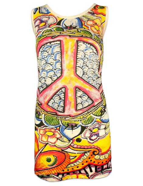 MIRROR Women's Tank Dress - Psy Peace