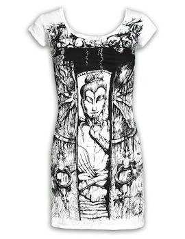 SURE Damen Kleid - Buddha Das Rad des Lebens