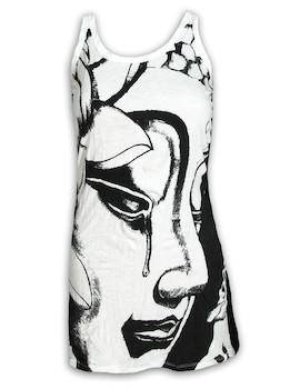 SURE Damen Träger-Kleid - Weinender Buddha