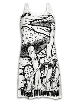 SURE Women´s Tank Dress - Magic Mushrooms