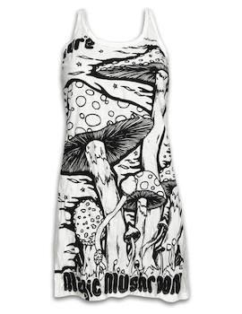 SURE Women´s Tank Dress - Magic Mushrooms