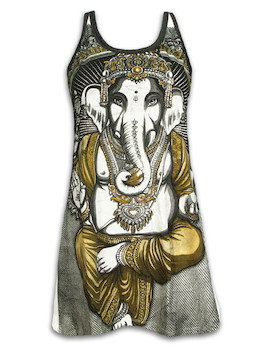 WEED Women´s Tank Dress - Ganesha The Elephant God