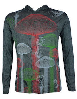 PURE Men´s Hooded Sweater - Magic Shrooms