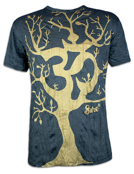 SURE Men´s T-Shirt - Om Magic Tree Special Edition Size M L XL Boho Goa Psy Trance Yoga of Life Worldtree