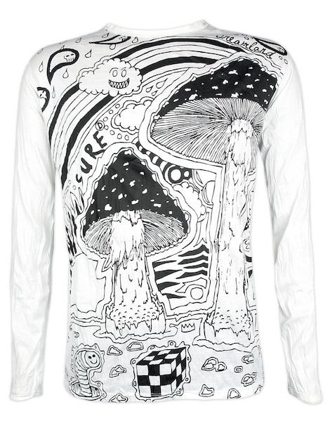 Sure Men´s Longsleeve Shirt - Mushroom Dreamland Size M L XL Cannabis Acid Psychedelic Art Raggae Ragga