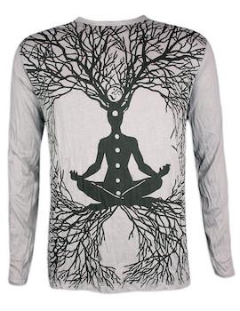 Sure Men´s Longsleeve Shirt Wicca Art Guru  Size M L XL Shamane Yogi Buddha Hindu Boho Namaste