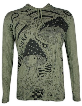 Sure Men´s Hooded Sweater - Mushroom Dreamland Size M L XL Cannabis Acid Psychedelic Art THC Reggae