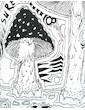 SURE Herren Kapuzen Sweatshirt - Mushroom Dreamland
