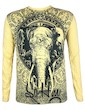 SURE Men´s Longsleeve Shirt - Om Ganesha Size M L XL Buddha Elephant - God Yoga Hindu Namaste Boho