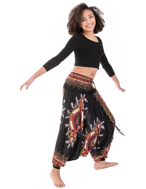 WAKAPU Women's Trousers - One Size Tanuruha Aladin Harem Elephant Baggy Pants Shalwar