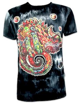 SURE Men´s T-Shirt - Trippy Chameleon Psychedelic Art