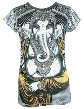 WEED Damen T-Shirt - Ganesha Der Elefantengott
