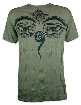 SURE Men´s T-Shirt - Buddha´s Eyes Yoga Hindu Artwork