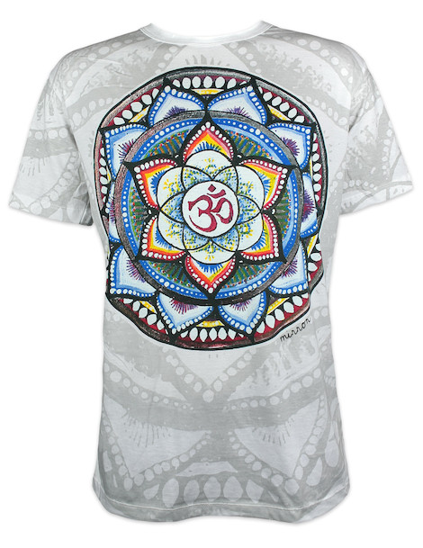 Mirror Men´s T-Shirt - Aum Mandala India Yoga Buddha Hindu