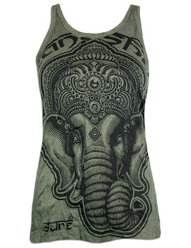 SURE Women's Tank Top - Ganesha Elephant God Hindu Buddha