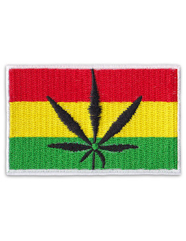 Patch Jamaica Cannabis Leaf