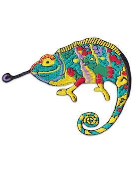 Aufnäher Psychedelisches Chameleon