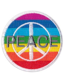 Aufnäher Regenbogen Peace Zeichen