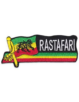 Rastafari Lion of Africa Patch Sew Iron On Reggae Ragga