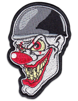 Evil Clown Patch Iron Sew On Rockabilly Biker Rocker MC