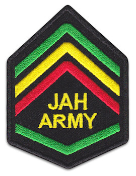 Jah Army Patch Iron Sew On Reggae Raggaton Jamaica