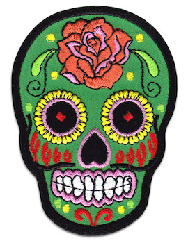 Mexican Skull Patch Iron Sew On Day Of The Dead Mexico