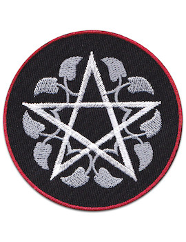 Life Flower Pentagram Patch Iron Sew On Gothic Magic