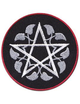 Life Flower Pentagram Patch Iron Sew On Gothic Magic