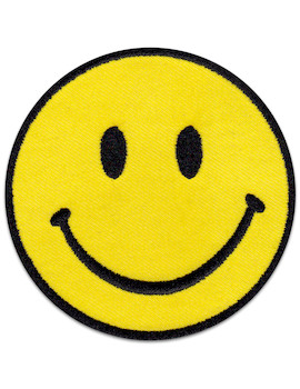 Smiley Patch Iron Sew On Cartoon Techno Party Festival