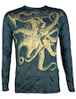 SURE Men´s Longsleeve - The Giant Kraken Special Edition Gold Size M L XL Octopus Psychedelic Art Techno