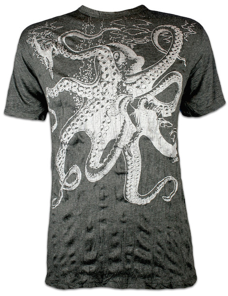 SURE Men´s T-Shirt Great Kraken Silver Edition