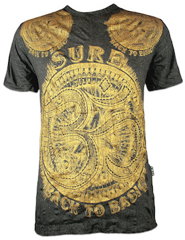 SURE Herren T-Shirt Aum Symbol Gold Edition