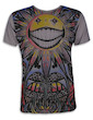 Mirror Men´s T-Shirt - The Psychedelic Sun Art Hemp Leaf