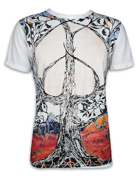 MIRROR Herren T-Shirt - Peace Lebensbaum