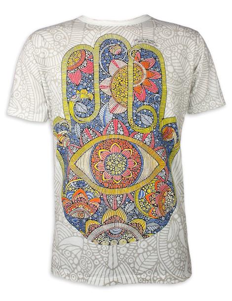 Mirror Men's T-Shirt - Hamsa Sun Hand