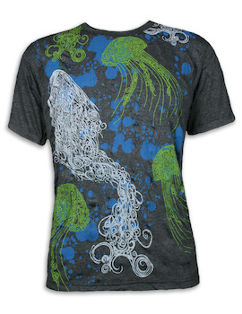 PURE Herren T-Shirt - Magische Quallen