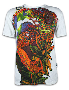 SURE Herren T-Shirt - Psychedelisches Chamäleon