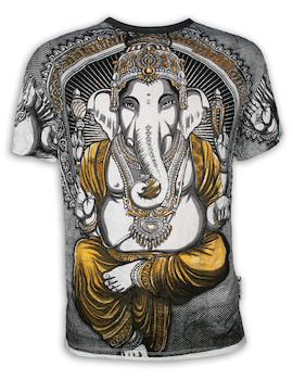 WEED Herren T-Shirt - Ganesha Der Elefantengott