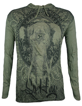 SURE Men´s Hooded Sweater - Om Ganesha