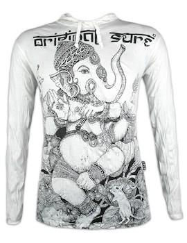 SURE Herren Kapuzen Sweatshirt - Ganapati der Elefantengott